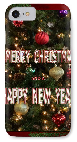 Christmas New Year Card IPhone Case by Debra     Vatalaro