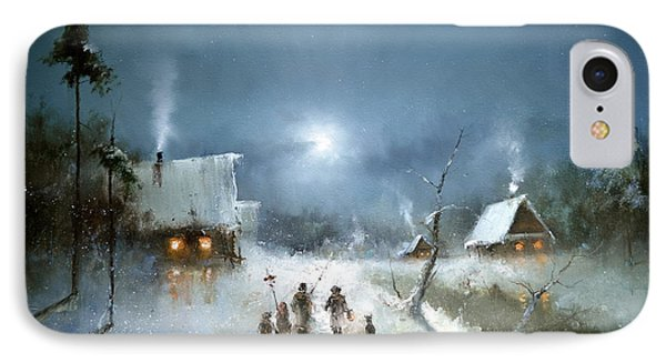 Christmas Night IPhone Case by Igor Medvedev