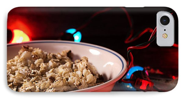 Christmas Oatmeal Breakfast IPhone Case by Donald Erickson