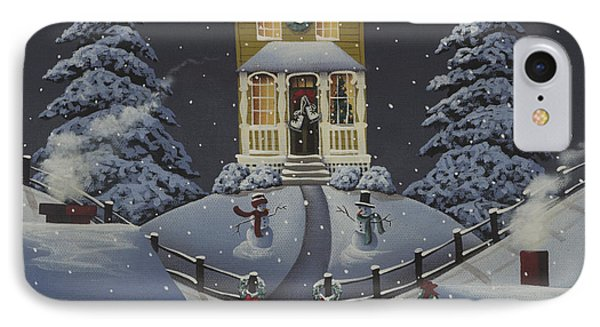 Christmas On Hickory Hill IPhone Case by Catherine Holman