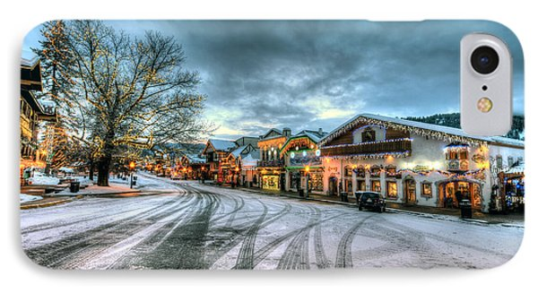 Christmas On Main Street Phone Case by Brad Granger