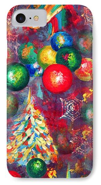Christmas Orbs Phone Case by Peter Bonk
