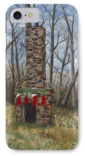 Christmas Past Phone Case by Helen Eaton