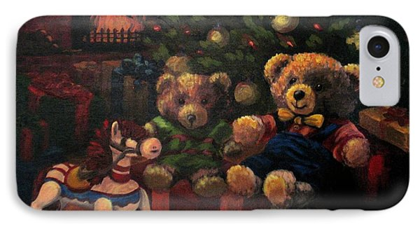 IPhone Case featuring the painting Christmas Past by Karen Ilari