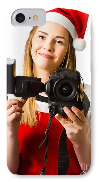 Christmas Photography Helper IPhone Case by Jorgo Photography - Wall Art Gallery