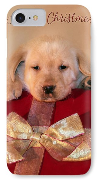 Christmas Puppy IPhone Case by Lori Deiter