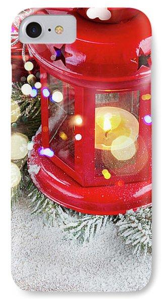 Christmas Red Lantern  IPhone Case by Anastasy Yarmolovich