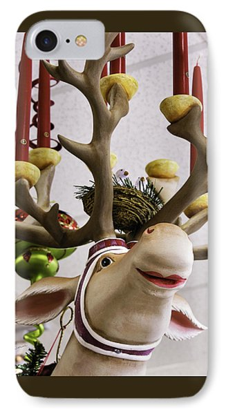 IPhone Case featuring the photograph Christmas Reindeer Games by Betty Denise