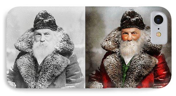 Christmas - Santa - Saint Nicholas 1895 - Side By Side IPhone Case