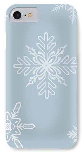 Christmas Snowflakes - No Text  IPhone Case by Maggie Terlecki