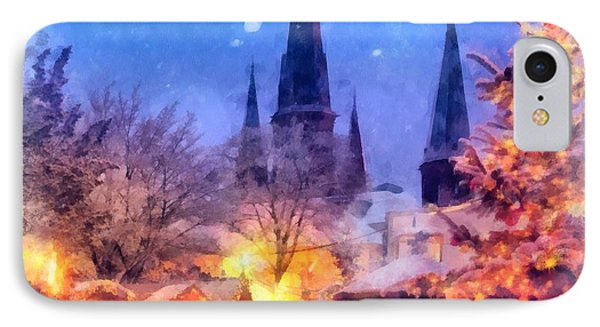 Christmas Town IPhone Case by Esoterica Art Agency