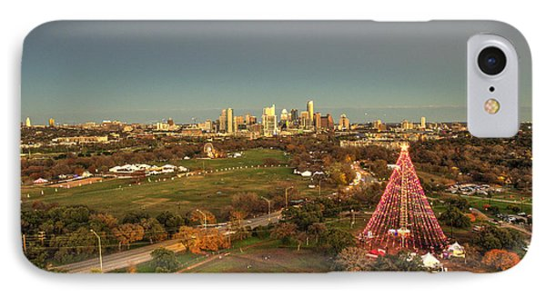 Christmas Tree In Austin IPhone Case by Andrew Nourse