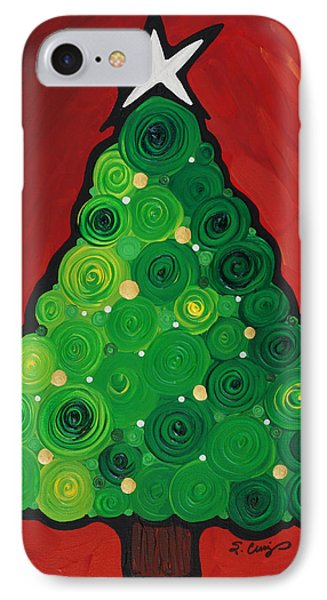 Christmas Tree Twinkle IPhone Case by Sharon Cummings
