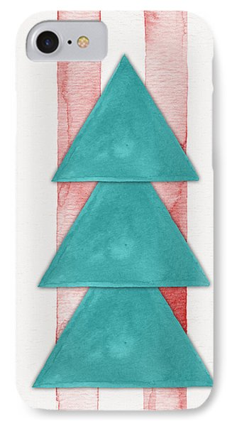 Christmas Tree Watercolor IPhone Case by Nordic Print Studio