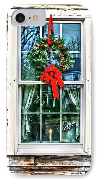 Christmas Window IPhone Case by Sandy Moulder