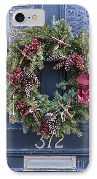 Christmas Wreath IPhone Case by Edward Fielding