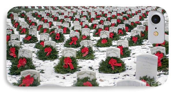 Christmas Wreaths Adorn Headstones IPhone Case
