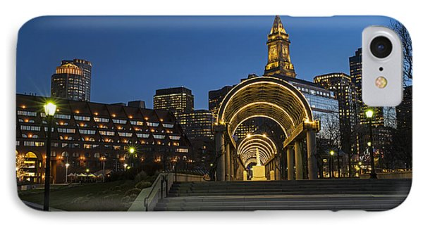 Christopher Columbus Park Boston Ma Trellis Custom House IPhone Case by Toby McGuire