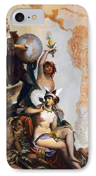 Christopher Columbus IPhone Case by Peter Johann Nepomuk Geiger