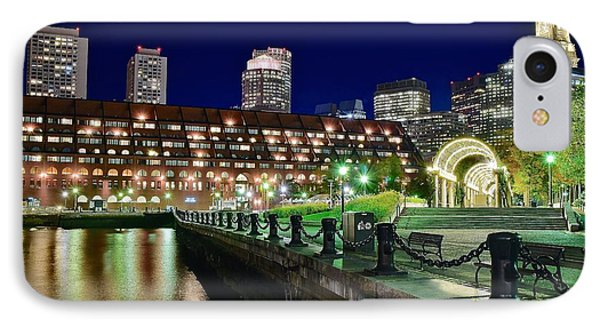 Christopher Columbus View Of Boston IPhone Case by Frozen in Time Fine Art Photography