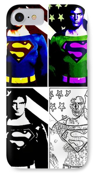 Christopher Reeve - Our Man Of Steel 1952 To 2004 IPhone Case by Saad Hasnain