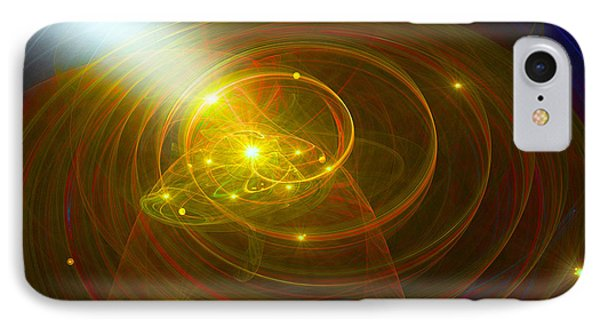 Christopher's Vision Of Golden Light IPhone Case by Michael Durst