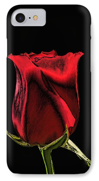 Chromatic Rosebud Phone Case by Kristin Elmquist