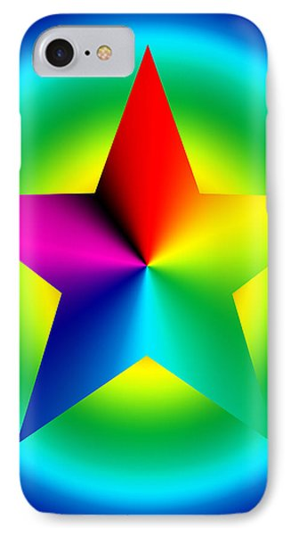 Chromatic Star With Ring Gradient Phone Case by Eric Edelman