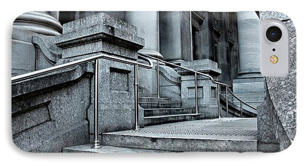 IPhone Case featuring the photograph Chrome Balustrade by Stephen Mitchell