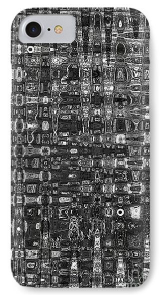 IPhone Case featuring the photograph Chromosome 22 Bw by Diane E Berry