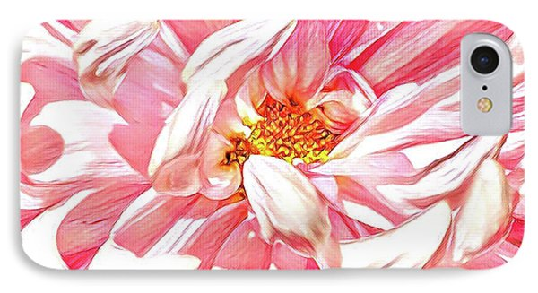 Chrysanthemum In Pink IPhone Case by Shadia Derbyshire