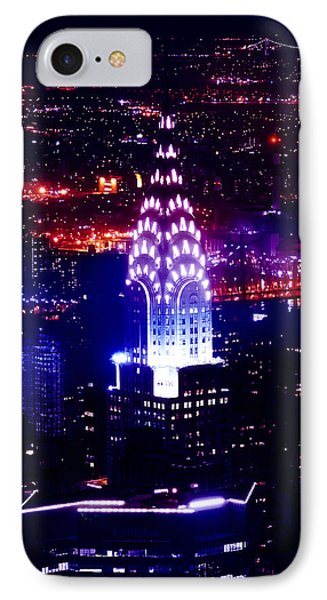 Chrysler Building iPhone 7 Case - Chrysler Building At Night by Az Jackson