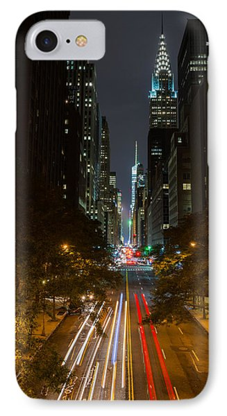 Chrysler Building At Night IPhone Case by Chris McKenna