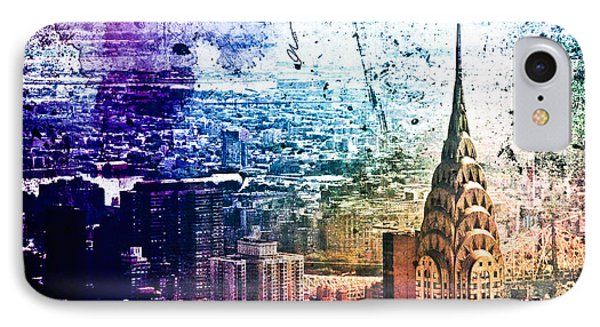 Chrysler Building - Colorful - New York City Phone Case by Vivienne Gucwa