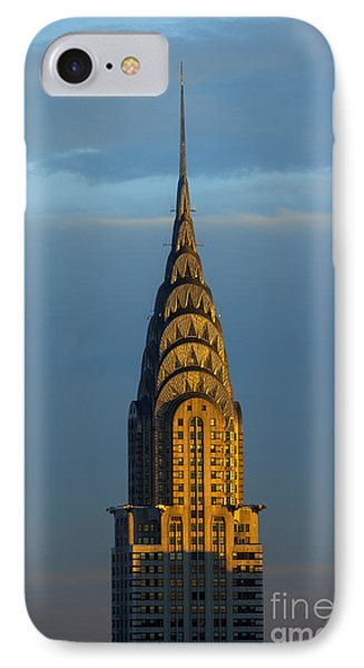 City Sunset iPhone 7 Case - Chrysler Building In The Evening Light by Diane Diederich