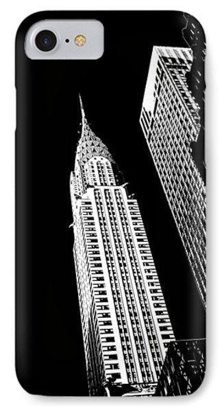 Chrysler Building iPhone 7 Case - Chrysler Nights by Az Jackson