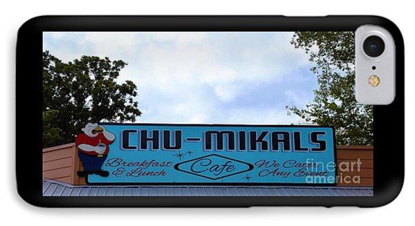 Chu - Mikals - Friendly Austin Texas Charm IPhone Case by Ray Shrewsberry