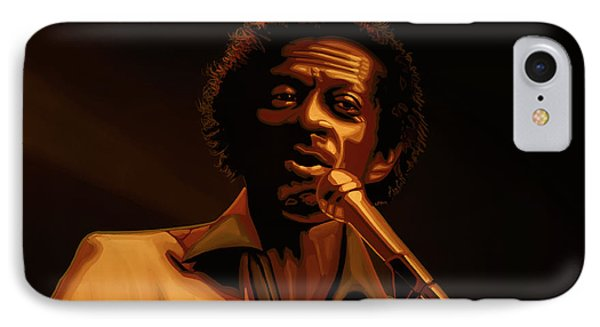 Chuck Berry Gold IPhone Case by Paul Meijering