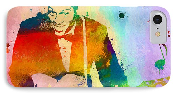 Chuck Berry Paint Splatter IPhone Case by Dan Sproul