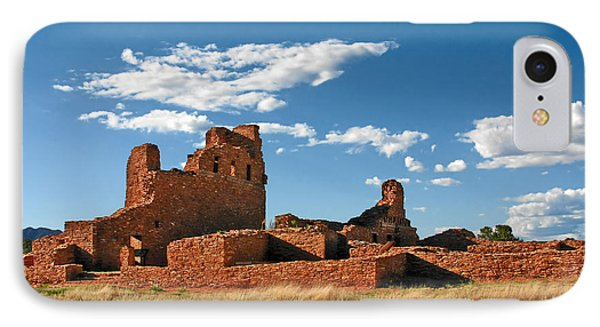 Church Abo - Salinas Pueblo Missions Ruins - New Mexico - National Monument IPhone Case by Christine Till