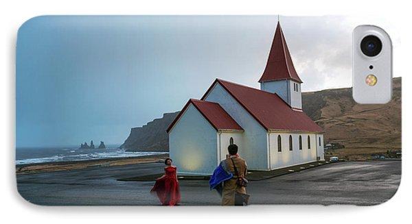 IPhone Case featuring the photograph Church Above Reynisfjara Black Sand Beach, Iceland by Dubi Roman