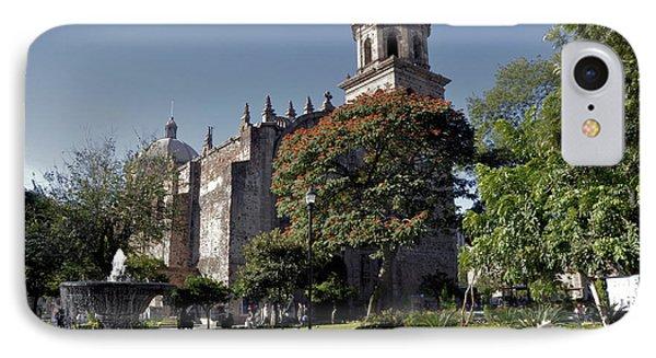 Church And Fountain Guadalajara IPhone Case by Jim Walls PhotoArtist