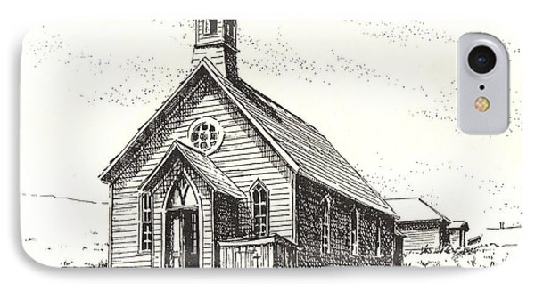 Church Bodie Ghost Town California Phone Case by Kevin Heaney