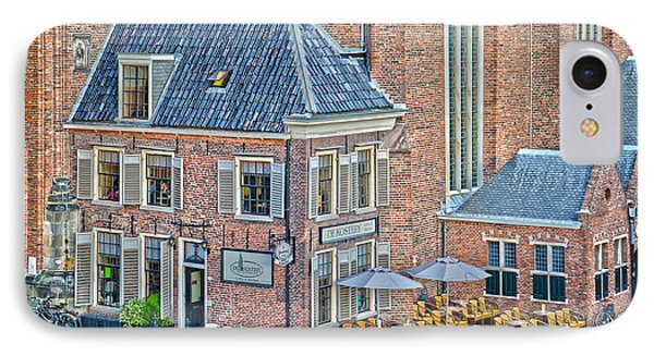 IPhone Case featuring the photograph Church Cafe In Groningen by Frans Blok