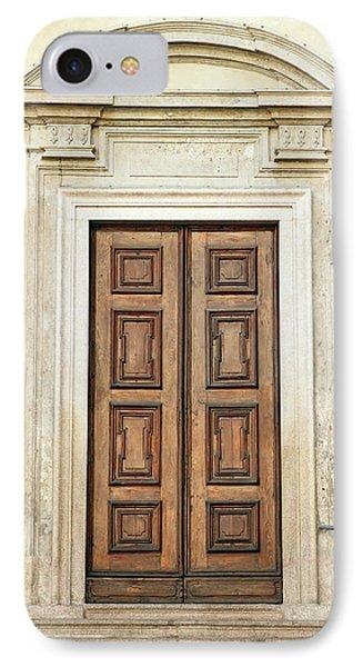 Church Door IPhone Case by Valentino Visentini