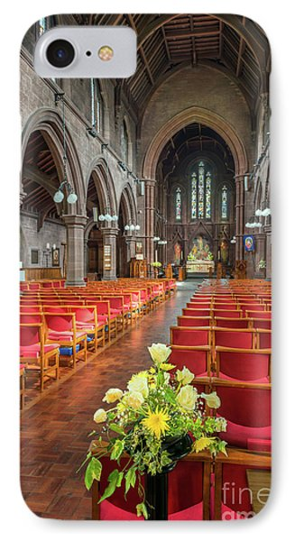 Church Flowers IPhone Case by Adrian Evans