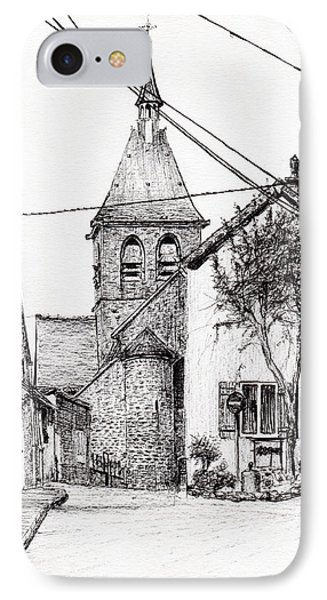 Church In Laignes IPhone Case by Vincent Alexander Booth