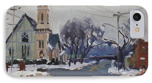 Church In North Tonawanda IPhone Case by Ylli Haruni
