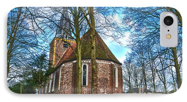 IPhone Case featuring the photograph Church In Winsum by Frans Blok