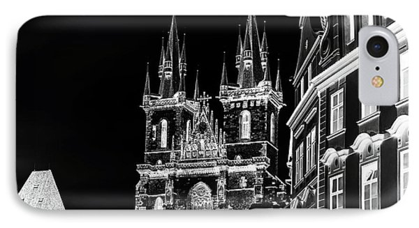 IPhone Case featuring the photograph Church Of Our Lady Before Tyn. Night Prague by Jenny Rainbow